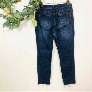 1822 Denim Jeans - 1822 Denim | Butter Skinny Jeans Frayed Hem Sz 10